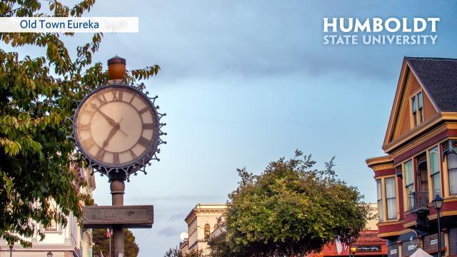 Eureka 2nd street with HSU logo