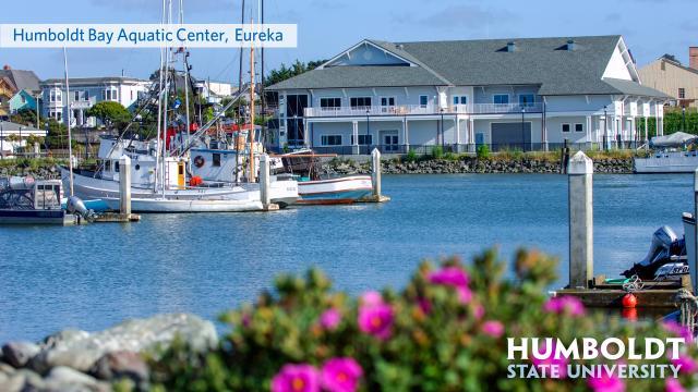 Aquatic Center with the hsu logo