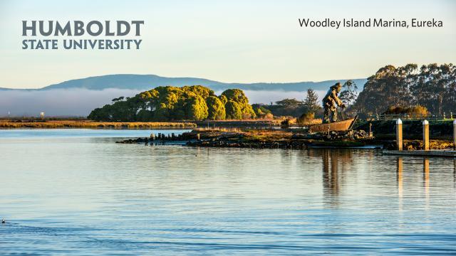 Woodly Island with HSU logo