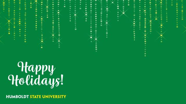 Happy Holidays - Green Sparkle